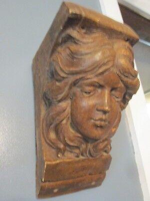 Vtg WALL SHELF SCONCE ARCHITECURAL Ornate Plaster WALL SHELF GIRL BUST BRACKET for sale  Shipping to India