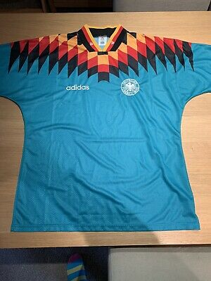 ????????⚽️ GERMANY FOOTBALL AWAY SHIRT 1994 ORIGINAL LARGE KIT SOCCER image