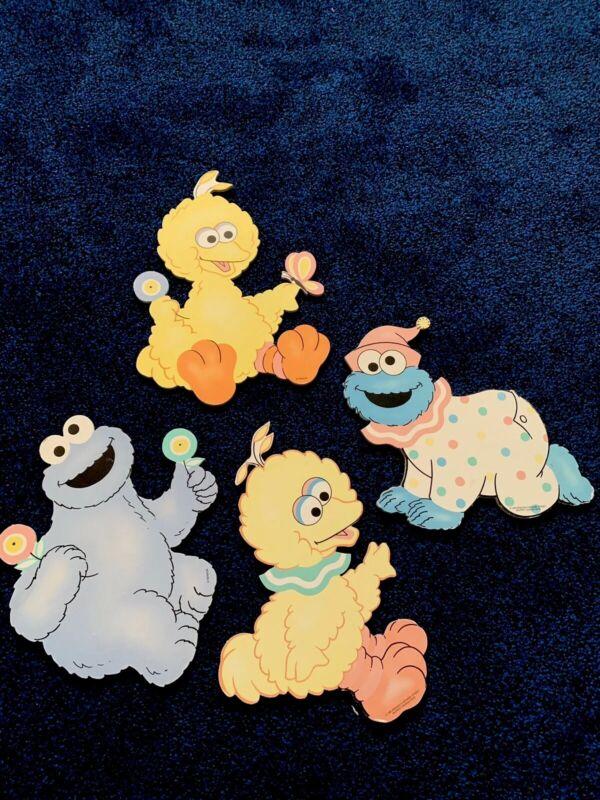 Vintage Sesame Street Muppet Baby Cardboard thick  Nursery Wall Hanging