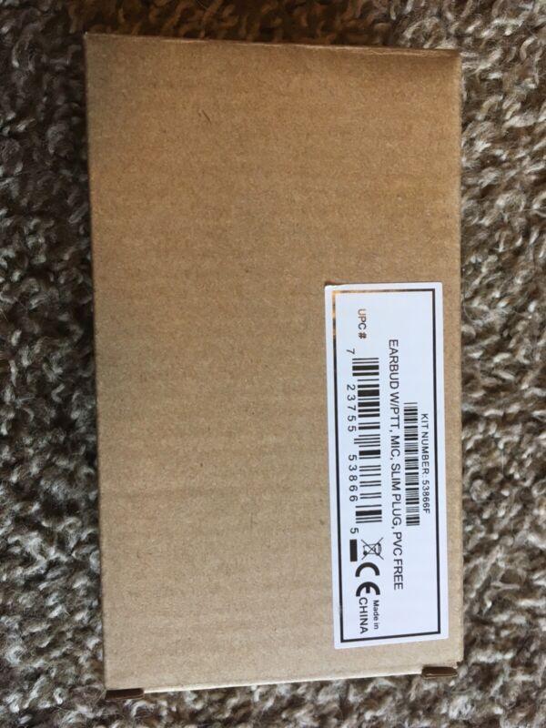 Motorola 53866F Earbud w/PTT, Mic, slim plug, pvc free