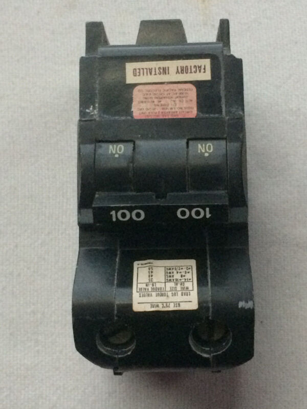 Federal Pacific Circuit Breakers NB2100 100A 2P BOLT ON