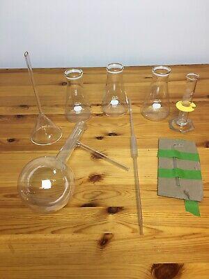 Pyrex Lab Glassware 8 Pieces