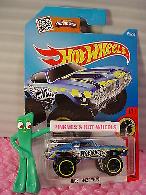 Case D/E 2016 i Hot Wheels OLDS 442 W-30 #161✰Blue/Chrome/Red;Yellow✰DAREDEVILS