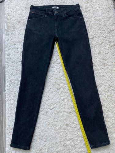 Jean noir slim wrangler w 28 36 38 black jeans skinny short fit denim