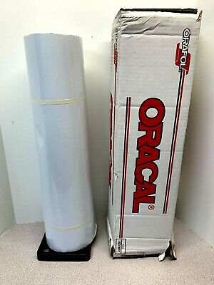 Oracal 651g-010 Roll White Glossy Vinyl Adhesive Plotter Sign 24 X 50 Yards