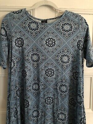 Agnes and Dora Swing Tunic Dress with Pockets Size Small NWOT