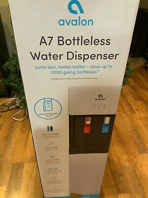 Avalon Self Cleaning Bottleless Water Cooler Dispenser - Hot & Cold, White