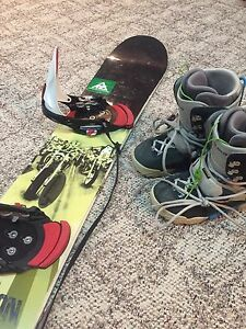 Burton Custom snowboard + boots + bindings