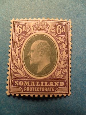 Somaliland Protectorate. KGEVII 1905 6a Green & Violet. SG51. LMH.