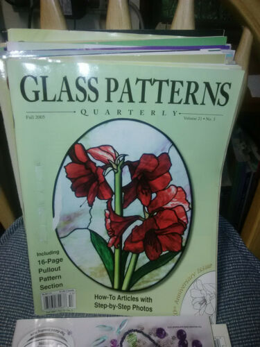 Stained GLASS PATTERNS QUARTERLY Magazine Fall 2005 Vol. 21 No. 3 Amaryllis
