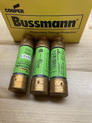 3 Bussmann Frn-r-50 50 Amp Fusetron Dual Element Timedelay Current Limiting Fuse