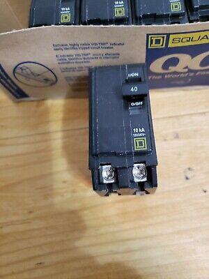 Square D Qo 40 Amp 2 Pole Breaker