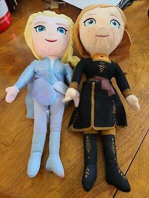 "Kohl's Disney Frozen 2 15"" Elsa & Anna Plush Doll Stuffed Animal Toy VGC!"