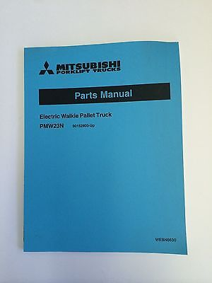 Mitsubshi Forklift Parts Manual Pmw23n Electric Walkie Pallet Truck