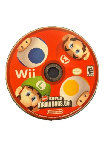 New Super Mario Bros Wii, 2009 DISC ONLY GAME - $21.00