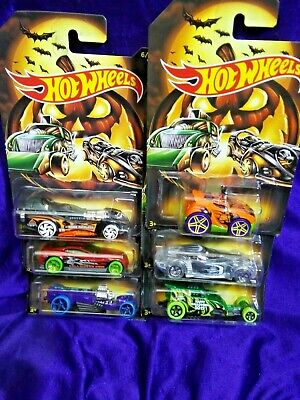 Halloween Times 2019 (2019 Hot Wheels Halloween 6 Car Set Limited Time Free Shipping Diecast)
