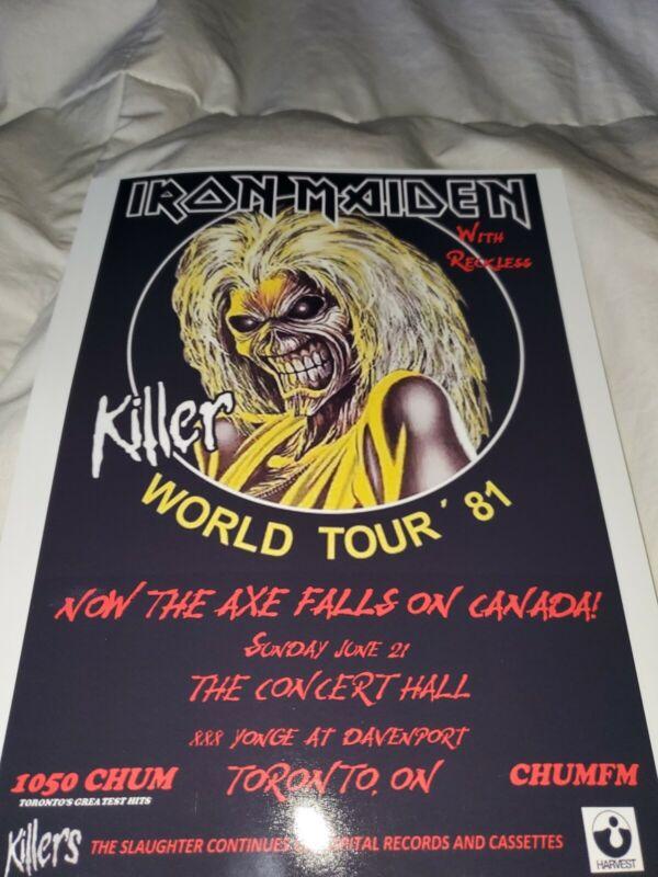 Iron Maiden 1981 Toronto Tour Poster