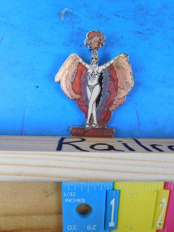 Jaycees Nevada Show girl with fantail  pin