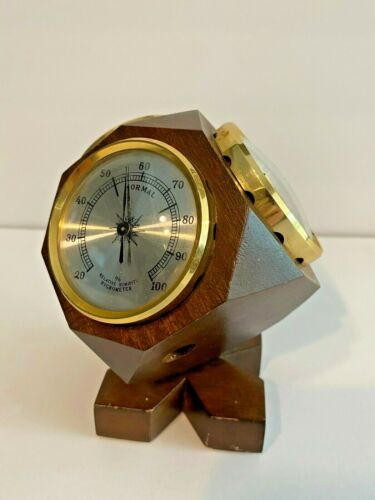 Vintage JASON Desktop Cube Weather Station w/ Barometer Thermometer Humidity