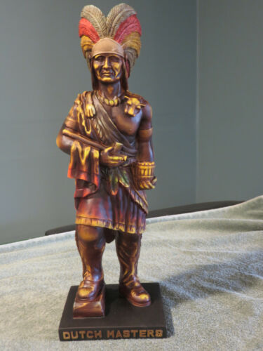 """Vintage NOS Indian Statue Dutch Masters Dealer Only Cigar Store Display 19"""" Tall"""