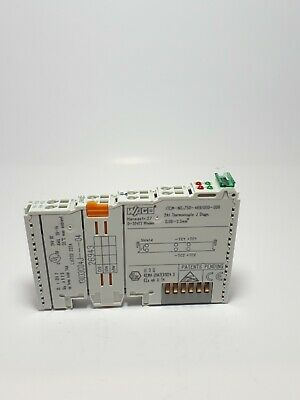 Wago 750-469-000-006 2 Analog Thermocouple Type J Diagnostics Module Used