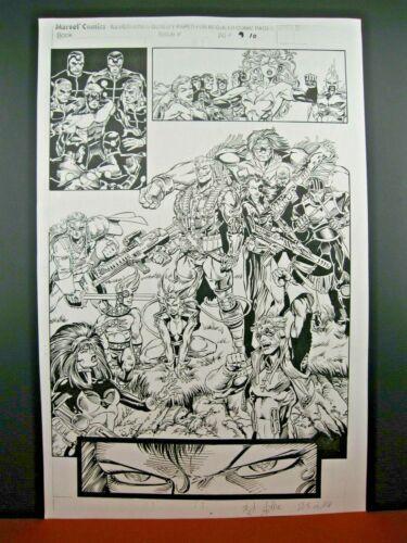 X-Men Annual #15 - 13 Pages Original Production Art - Tom Raney & Joe Rubinstein
