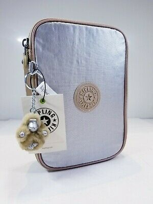 Kipling 100 Pens Toasty Gold Metallic Block Case NWT