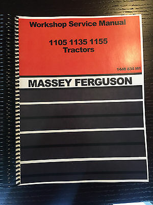 Mf Massey Ferguson 1105 Tractor Service Repair Shop Manual Technical Workshop