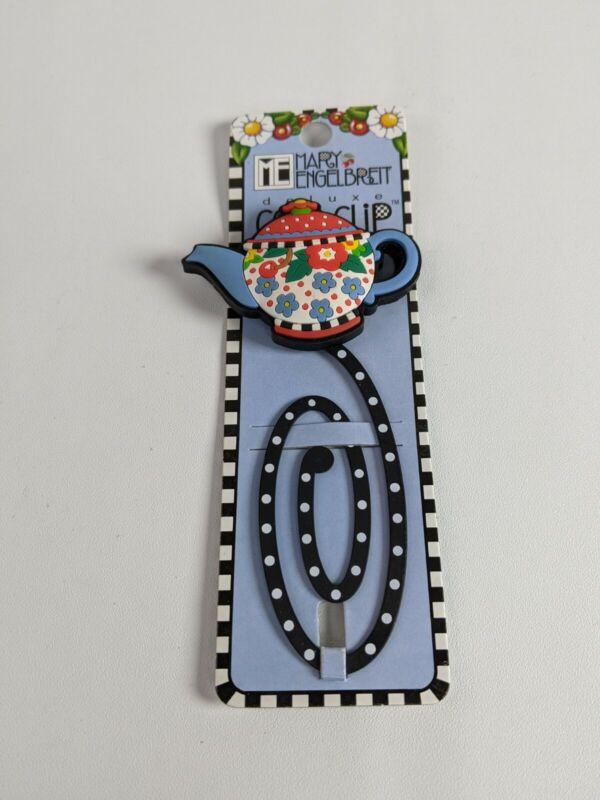 Mary Engelbreit Cute Book Clip, 20th Anniversary Teapot NEW