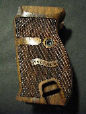 Walther P38 P1 Fine English Walnut Checkered Pistol Grips w/LEFT SIDE LOGO ONLY  for sale  USA