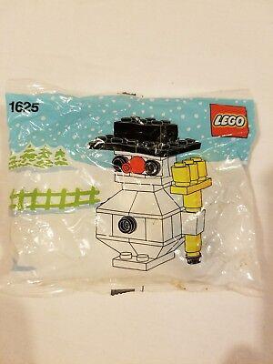 Vintage Rare Lego Snowman Legos Toy Figure New NIP 1625 1989 80s 1980s Christmas