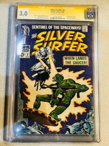 Silver Surfer #2 CGC 3.0 Marvel 1968 Stan Lee Signature! Signed! SS! L4 128 1 cm