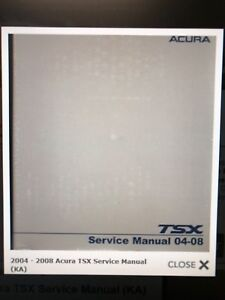 Acura TSX HELMS SERVICE MANUAL