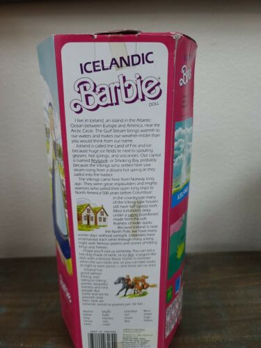 Vintage 1986 ICELANDIC Barbie DOTW 3189 NRFB 1st Doll Of The World Collection - $34.25