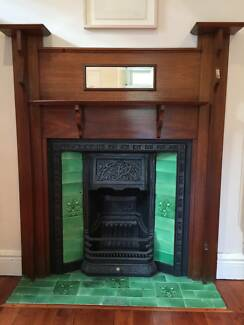 Cast Iron Fireplace with Timber mantle