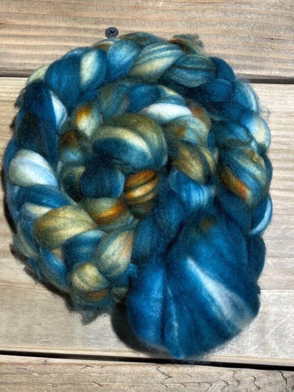 Superfine Optim Merino Wool Top/Roving. 12-14 Micron. Hand dyed. 4oz. #8