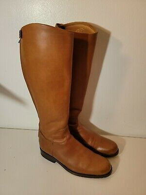 ALBERTO FASCIANI HAND MADE LEATHER BOOTS BROWN SZ 37.5 US 7.5 MADE IN ITALY