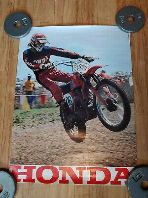 VTG 1974 HONDA MOTORCYCLE ADVERTISEMENT POSTER