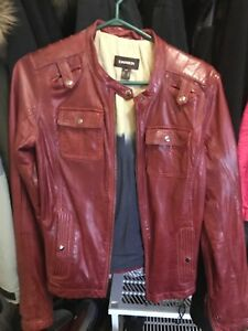 Danier red leather jacket