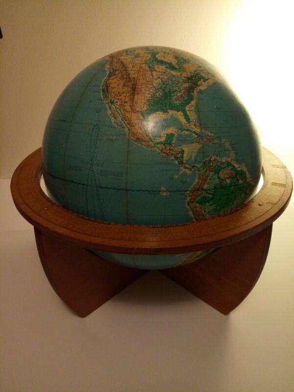 "Vintage 1963 Denoyer-Gepper Co. Cartocraft 16"" Visual relief Globe ."