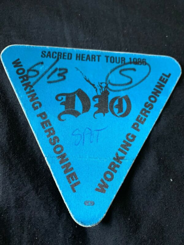 DIO Sacred Heart Tour 1986 Working Personnel Pass-Unused