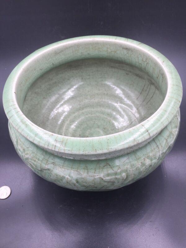 A Chinese Longquan Ceramic Celadon Tripod Censer