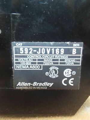 Allen Bradley 592-jov169 Manual Rest Overload Relay Block