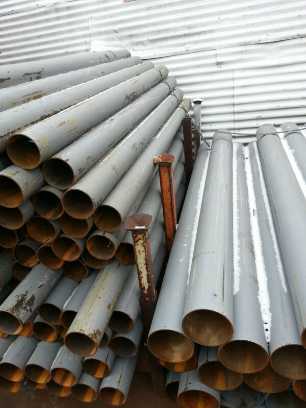 """STEEL ROUND PIPE 6-5/8"""" o.d.x .134"""" wall x 84"""" PIPE BOLLARDS"""