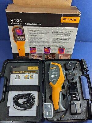 New Fluke Vt04 Visual Ir Thermometer Original Box Accessories