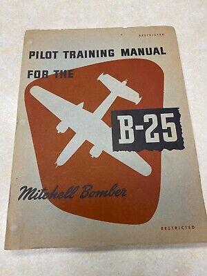 WW2 B-25 Pilot Training Manual - Mitchell Bomber