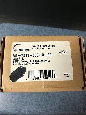 Invensys 1 14 Valve Body Vb-7211-000-3-09 Never Used