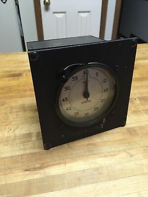 Vintage Standard Electric Time Co 60 Second/Minute Timer US Air Force Metal
