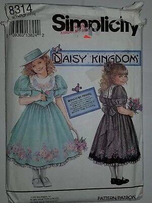 Mädchen Größe 12 14 Simplicity 8314 Daisy Kingdom UC Ff (Mädchen Größe 12 14 Kleider)