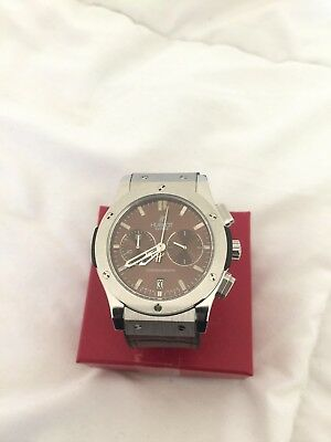 Hublot Silver Big Bang Chronograph Watch
